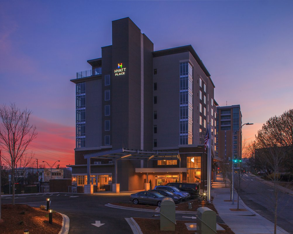 Hyatt Place exterior sunrise