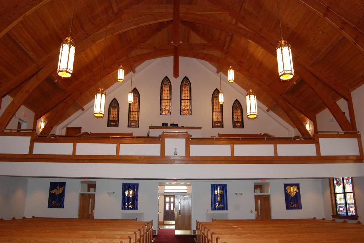 St. John's Lutheran Church interior balcony