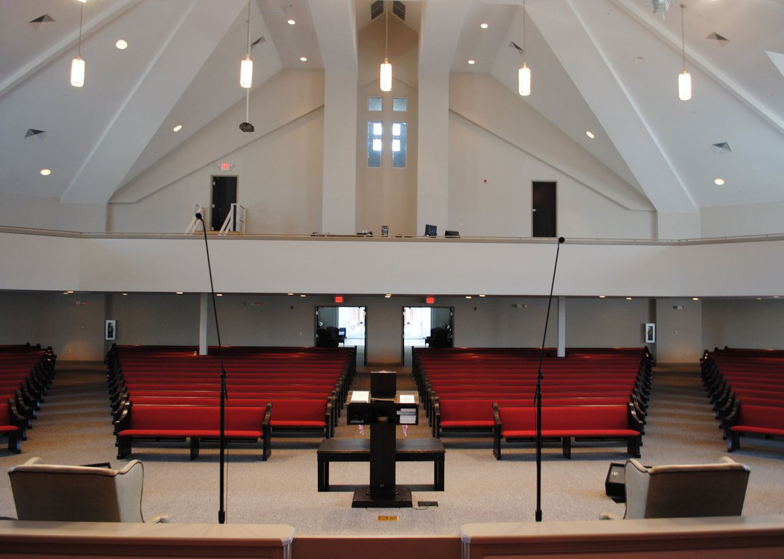 Penelope Baptist Church interior choir