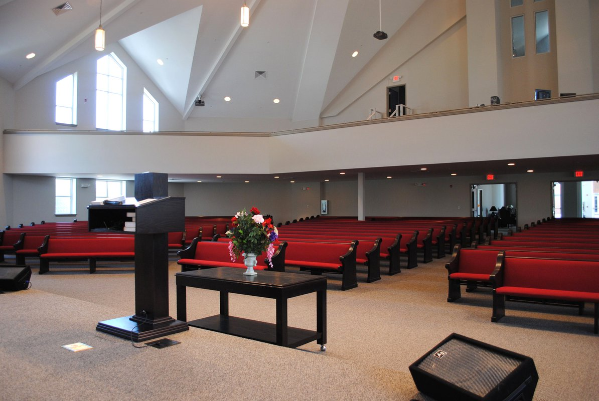 Penelope Baptist Church interior congregation
